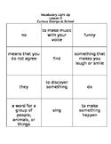 Journeys 1st Grade Lesson 3 Vocabulary Light-Up