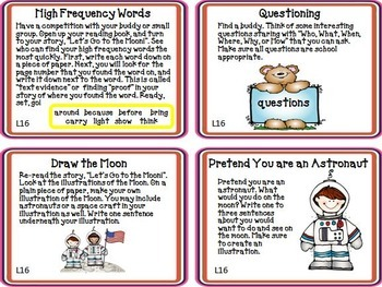 Let's Go to the Moon Journeys 1st Grade Unit 4 Lesson 16 Activities & Printables
