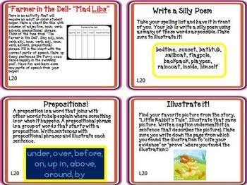 Little Rabbit's Tale Journeys 1st Grade Unit 4 Lesson 20 Activities & Printables
