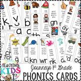 Journeys Kindergarten & 1st Grade Phonics Cards (WHITE BACKGROUND)