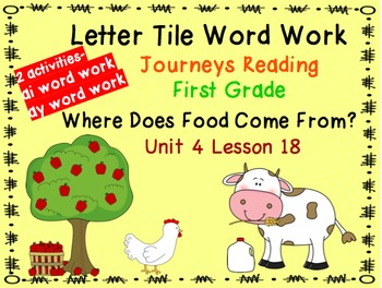 Journeys 1st Grade Reading Unit 4 Bundle of Letter Tiles