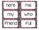 Journeys 1st Grade Sight Word Cards Zebra Themed