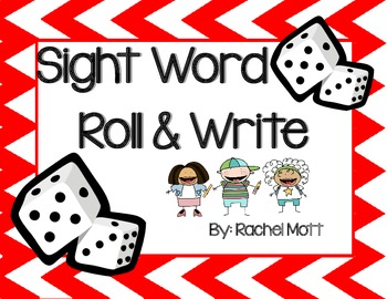 Journeys 1st Grade Sight Word Roll and Write