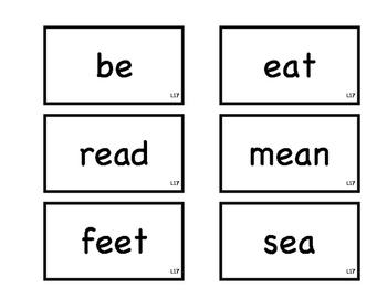 Journeys 1st Grade Spelling Flash Cards L16-18