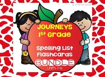 Journeys 1st Grade Spelling List Flashcard BUNDLE!!!