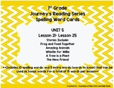Journey's 1st Grade Spelling-- Unit 5 Word Cards