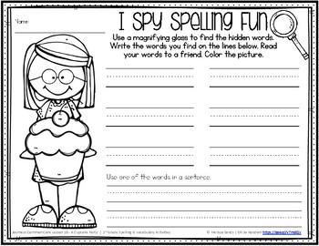 Journeys 1st Grade Spelling Word Work - Lesson 10 {Click File, Print}