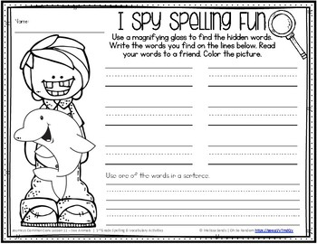 Journeys 1st Grade Spelling Word Work - Lesson 11 {Click File, Print}
