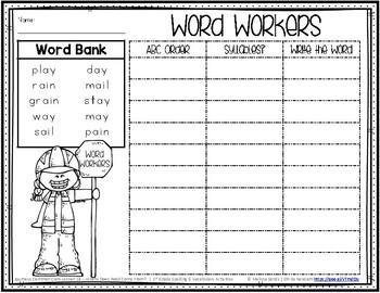 Journeys 1st Grade Spelling Word Work - Lesson 18 {Click File, Print}