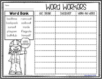 Journeys 1st Grade Spelling Word Work - Lesson 20 {Click File, Print}