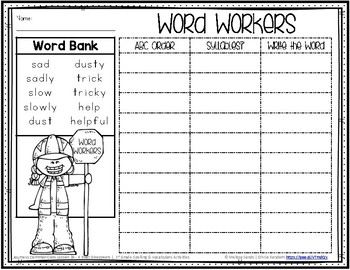Journeys 1st Grade Spelling Word Work - Lesson 29 {Click File, Print}