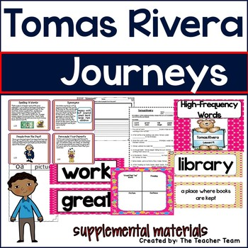Tomas Rivera Journeys 1st Grade Unit 4 Lesson 19 Activities and Printables