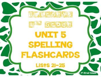 Journeys 1st Grade UNIT 5 Spelling Flashcards!!!