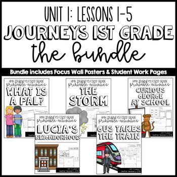 Journeys 1st Grade Unit 1 Bundle