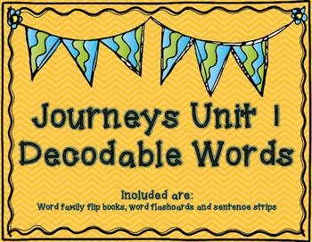 Journeys 1st Grade Unit 1 Decodable Words