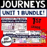 Journeys 1st Grade Unit 1 Word Work Bundle | 2017 or 2014