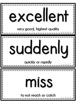 Journeys 1st Grade Unit 1 Vocab Cards & Spelling Test Reference