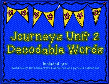 Journeys 1st Grade Unit 2 Decodable Words