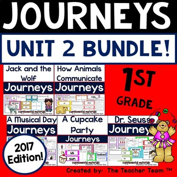 Journeys 1st Grade Unit 2 Supplemental Activities and Printables 2017