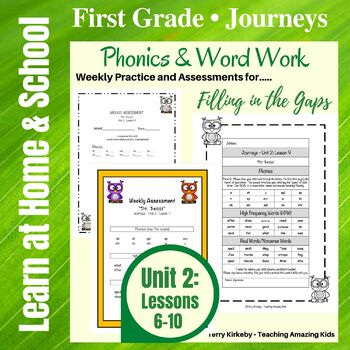 Journeys - 1st Grade/Unit 2 - Word Work Practice & Quick Assessment for Grouping