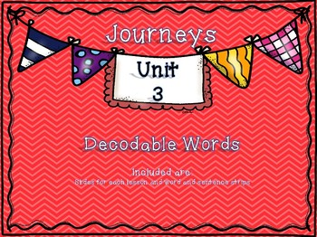 Journeys 1st Grade Unit 3 Decodable Words
