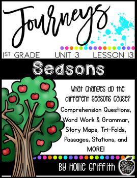 Journeys 1st Grade {Unit 3, Lesson 13, Seasons}