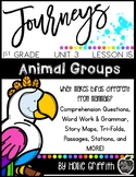 Journeys 1st Grade {Unit 3, Lesson 15, Animal Groups}