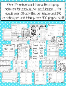 Journeys 1st Grade Unit 3 No-Prep Word Work {Sight Word & Spelling Lists}