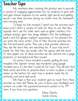 Journeys 1st Grade Unit 3 No-Prep Word Work {Sight Word & Spelling Lists}