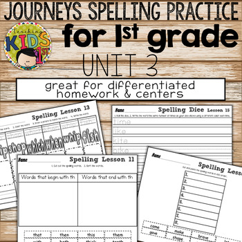 Journeys 1st Grade Unit 3 Spelling Practice Bundle