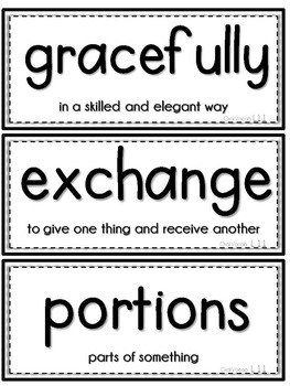 Journeys 1st Grade Unit 3 Vocab Cards & Spelling Test Reference