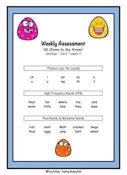 Journeys - 1st Grade/Unit 3 - Word Work Practice & Quick Assessment for Grouping