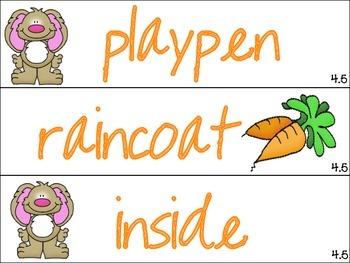 Journeys 1st Grade Unit 4 Spelling Word Cards