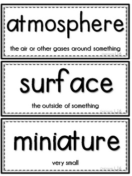 Journeys 1st Grade Unit 4 Vocab Cards & Spelling Test Reference