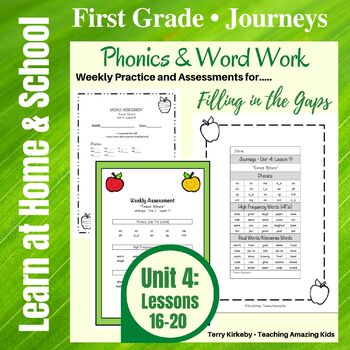 Journeys - 1st Grade/Unit 4 - Word Work Practice & Quick Assessment for Grouping