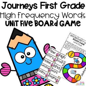 Journeys 1st Grade Unit 5 Board Game High Frequency Words