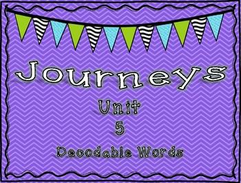 Journeys 1st Grade Unit 5 Decodable Words