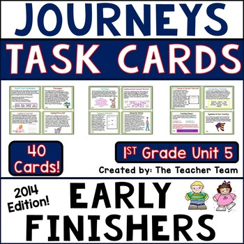 Journeys 1st Grade Unit 5 Task Cards Supplemental Materials CC 2014