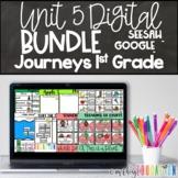 Journeys 1st Grade Unit 5 Google Seesaw Activities Bundle Distance Learning