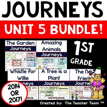 Journeys 1st Grade Unit 5 ~ Supplemental Materials 2014