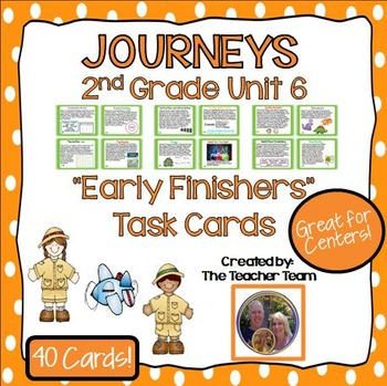 Journeys 2nd Grade Unit 6 Early Finishers Task Cards 2011