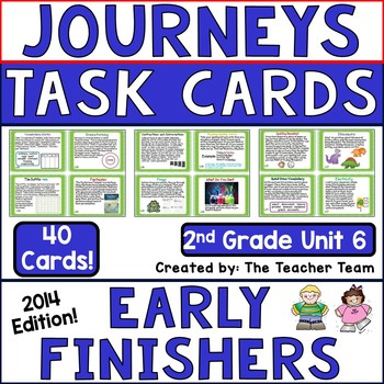 Journeys 2nd Grade Unit 6 Task Cards for Centers and Small Groups 2014 version