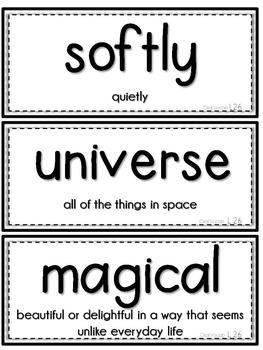 Journeys 1st Grade Unit 6 Vocab Cards & Spelling Test Reference