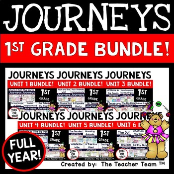 Journeys 1st Grade Units 1-6 Supplemental Activities Full Year Bundle CC 2014