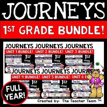 Journeys 1st Grade Units 1-6 Full Year Bundle Common Core 2014