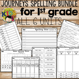 Journeys 1st Grade Units 1-6 Spelling Practice Bundle