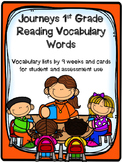 Journeys 1st Grade Vocabulary Checklist and Cards