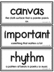 Journeys 1st Grade Vocabulary Wall Cards- Large- Oral & Selection (Units 1-6)