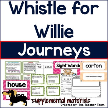 Whistle for Willie Journeys 1st Grade Unit 5 Lesson 23 Activities and Printables