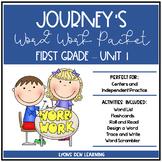 Journey's 1st Grade Word Work Practice and Center Activities - Unit 1